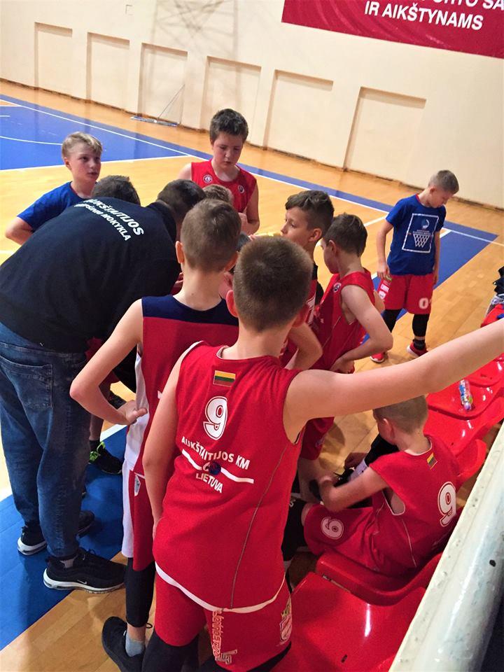 Aukštaitijos krepšinio mokyklos mokyklinukų krepšinio čempionatas AtostoguAuto.LT Taurei laimėti finišo tiesiojoje