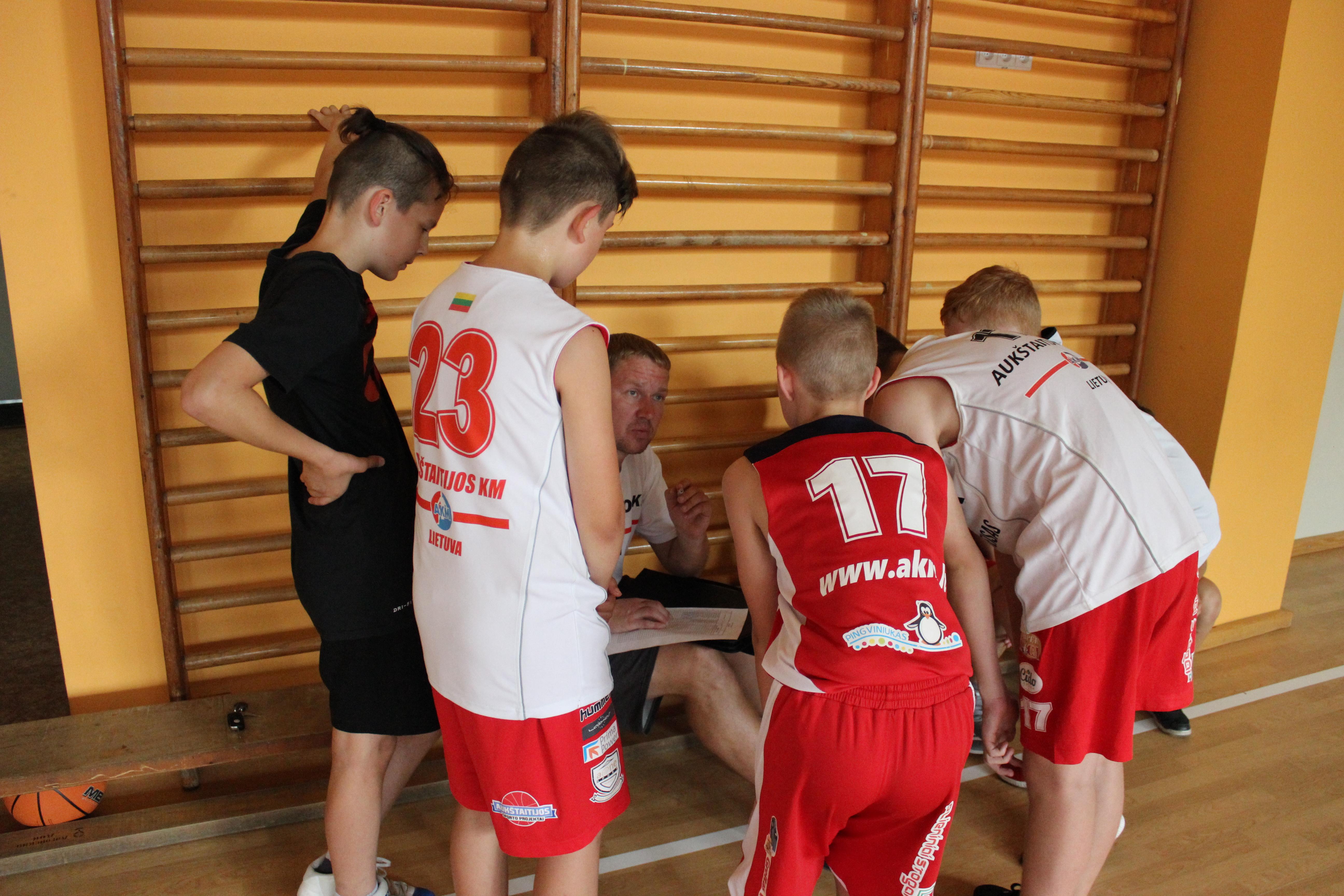 Antradienį įvyko draugiškos mūsų jaunųjų krepšininkų rungtynės