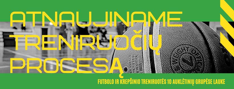 Futbolo ir krepšinio treniruotės atnaujinamos nuo gegužės 18 dienos!