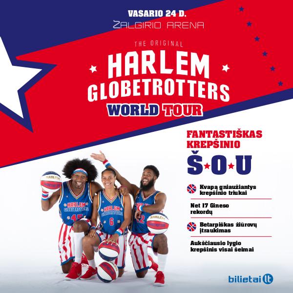 Įspūdinga naujiena! Aukštaitijos krepšinio mokykla tampa pasaulinio Harlem Globetrotters turo dalimi!